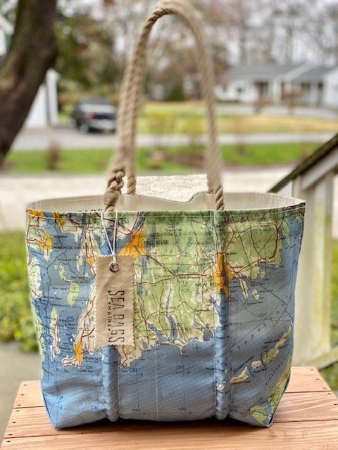 Sea Bags Westport Area Map Tote
