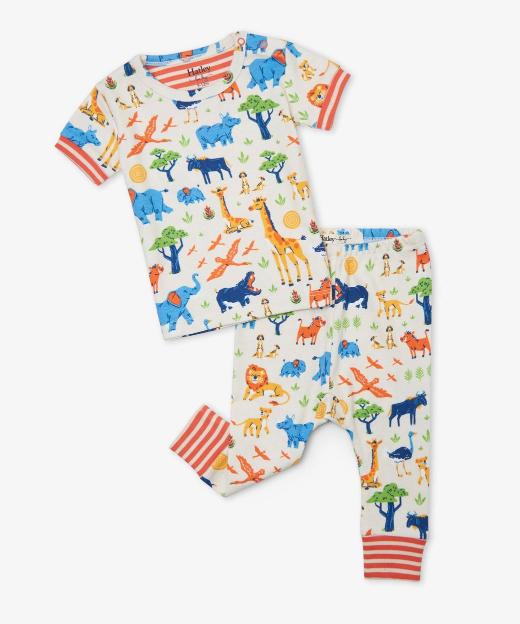 Wild Safari Organic Short Sleeve PJ Set by Hatley