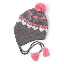 Girls Winter Hearts Fleece Lined Hat by Hatley