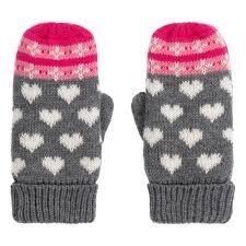 Girls Winter Hearts Fleece Mittens by Hatley