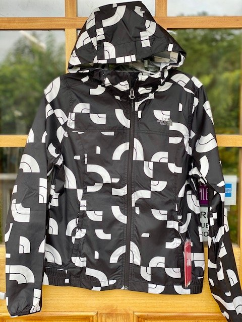 Women's North Face Cyclone Jacket - Black/White Print