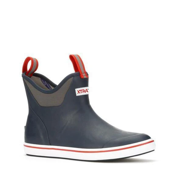Men's XtraTuf 6 Deck Ankle Boot - Navy/White/Red