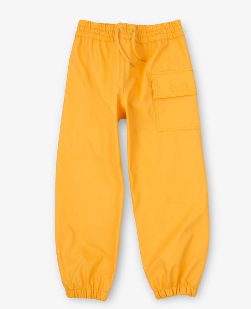 Hatley Kids Unisex Yellow Waterproof Splash Pants