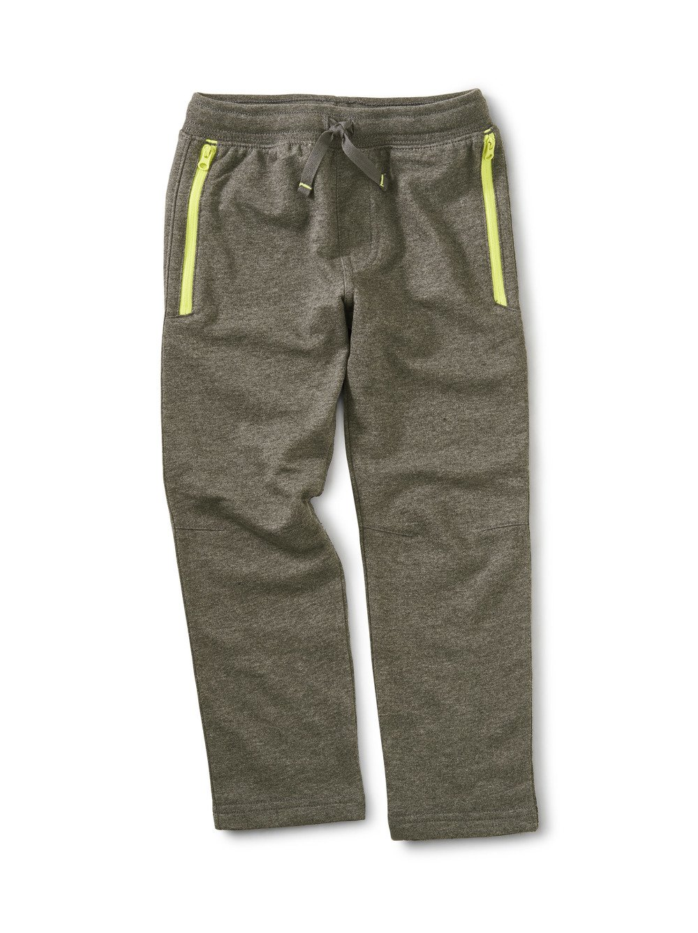 Zip Pocket Joggers Grey/ Yellow by Tea Collection