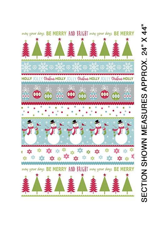 Joy, Merry and Bright Stripe Multi