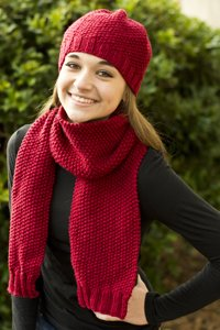 Eco+ Simplicity Hat & Scarf Kit