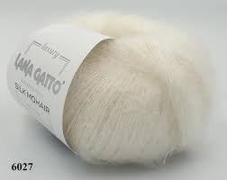 Silk Mohair Lux, Lana Gatto 6027 Ivory