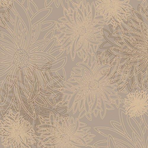 Floral Elements - Khaki 516