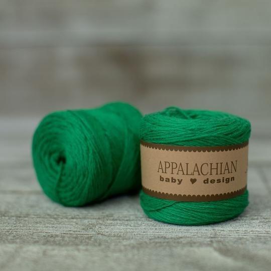 Appalachian Baby Design Organic Cotton Yarn - Greenbrier Green