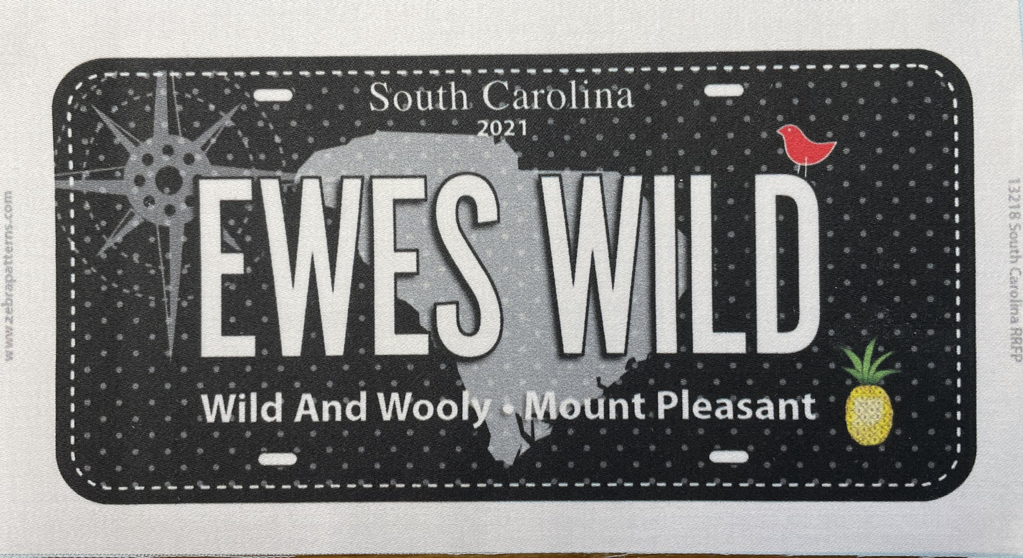Wild and Wooly License Plate, Quilters Trek 2021