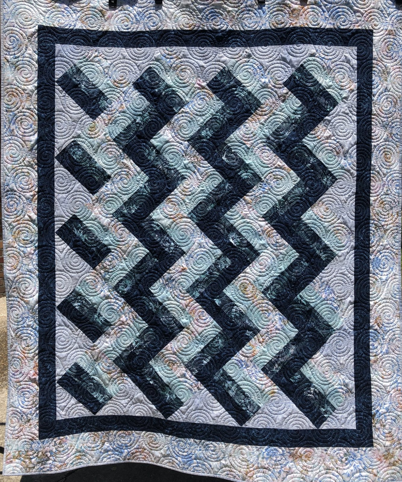 Rail Fence on Point Quilt