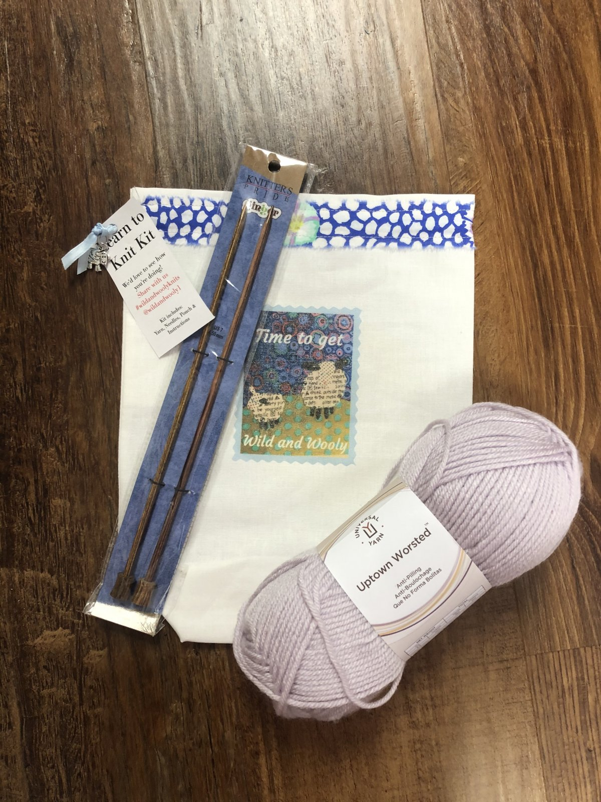 Learn to Knit Kit Orchid