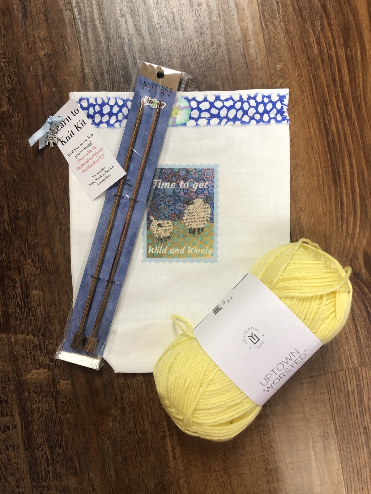 Learn to Knit Kit Yellow