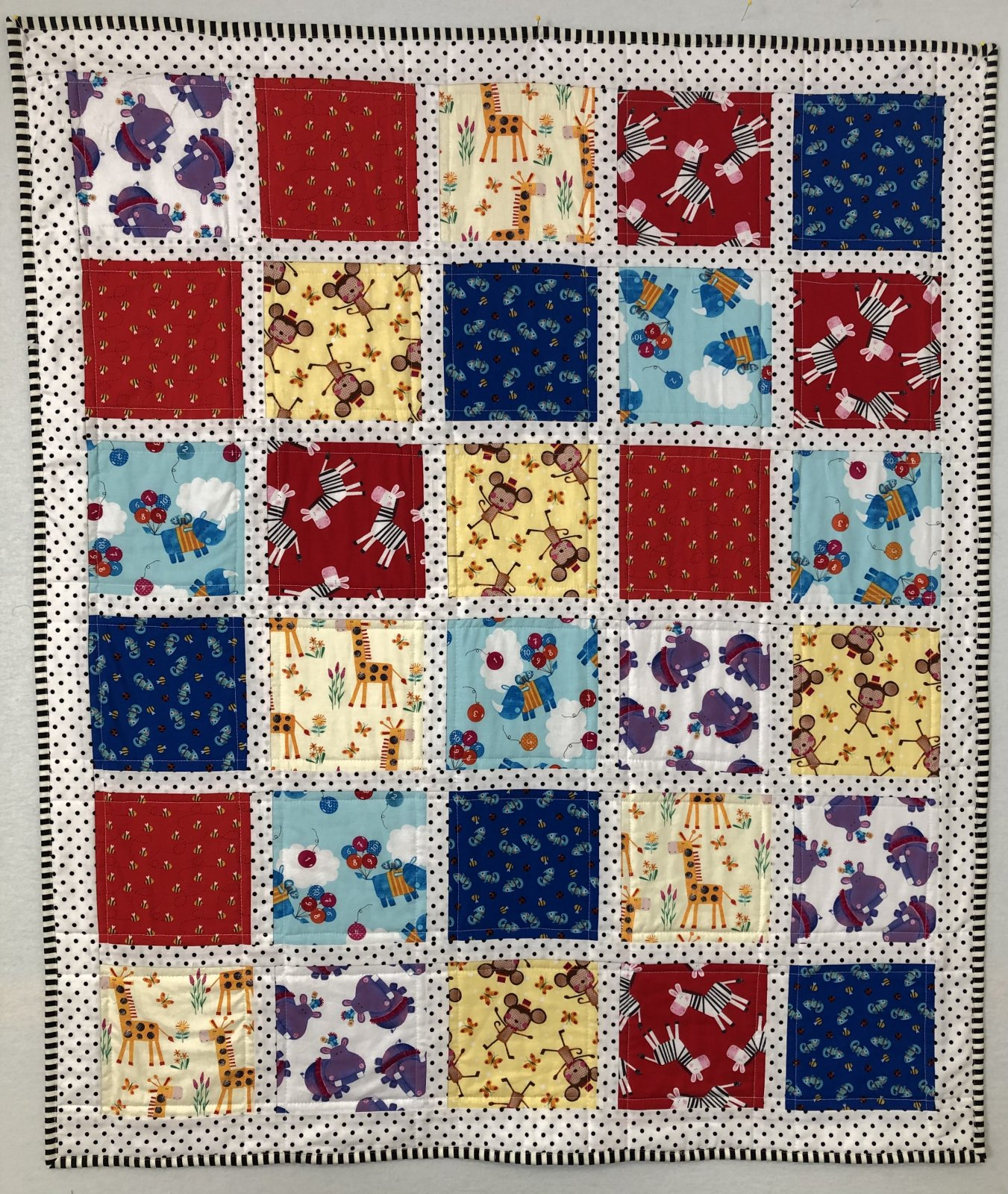 Numbers in the Jungle Quilt Kit - Red
