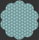 Charleston Oval Elements Vintage Blue