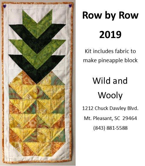 Pineapple Kit - Row by Row 2019