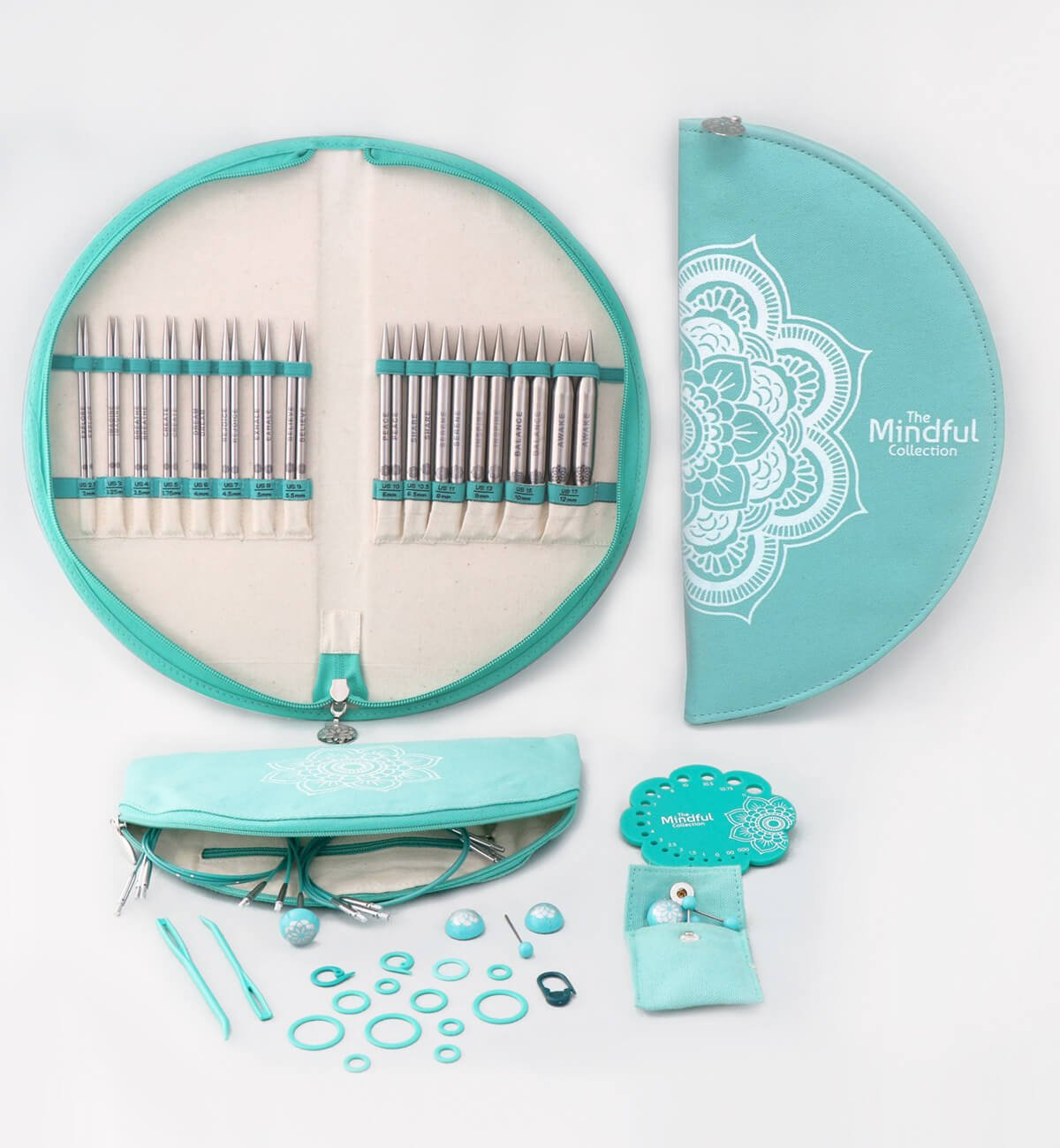 Mindful Gratitude Interchangeable Knitting Needle Set 5