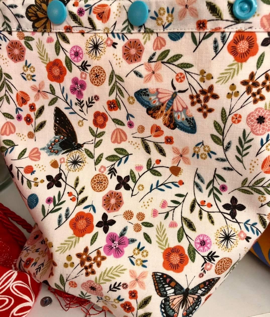 Yarn Ball Bag, Butterflies