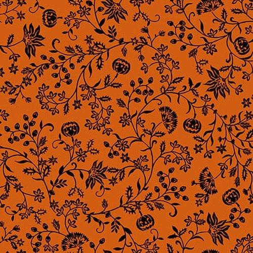 Spooky Night Orange Pumpkin Vine