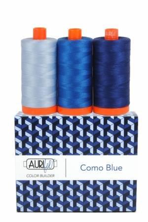 Aurifil 50wt Color Builder 3pc Set Como Blue