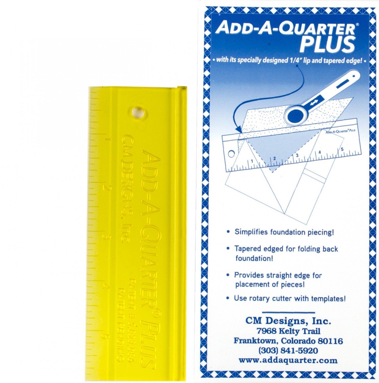 Add A-Quarter Ruler 1in x 6in Plus