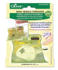 Clover Desk Needle Threader Green