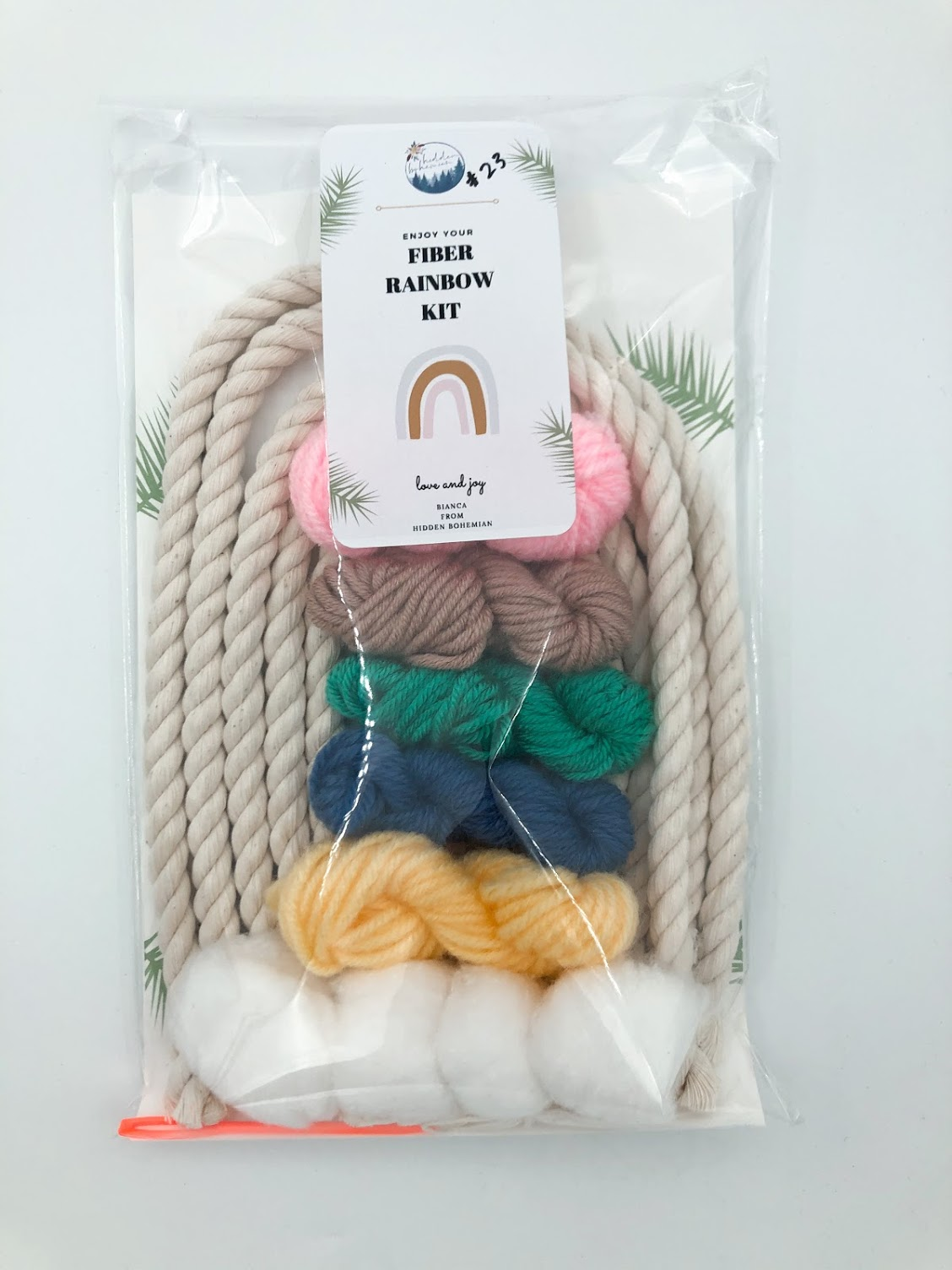 Rainbow Macrame Kit #23