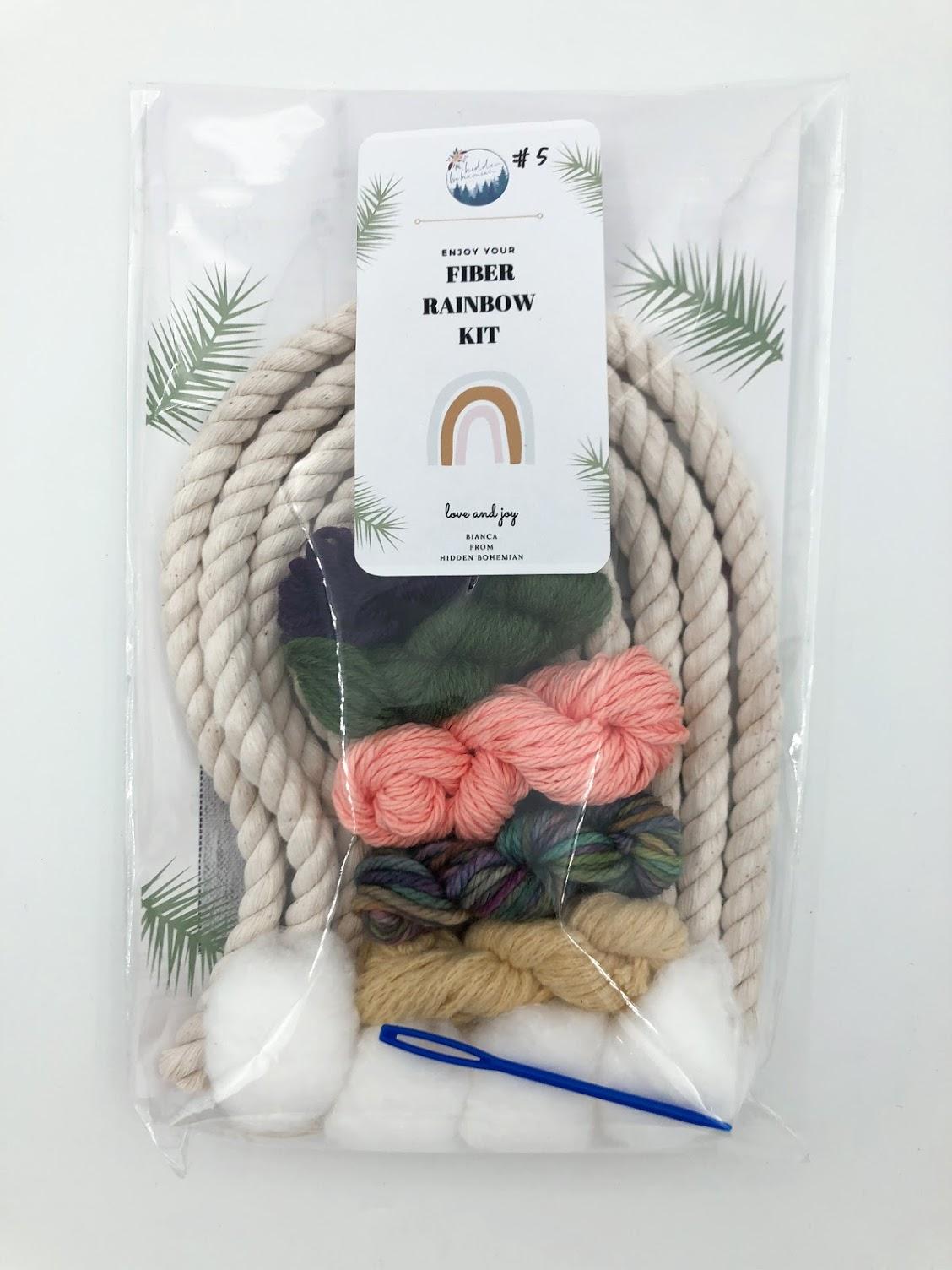 Rainbow Macrame Kit #5