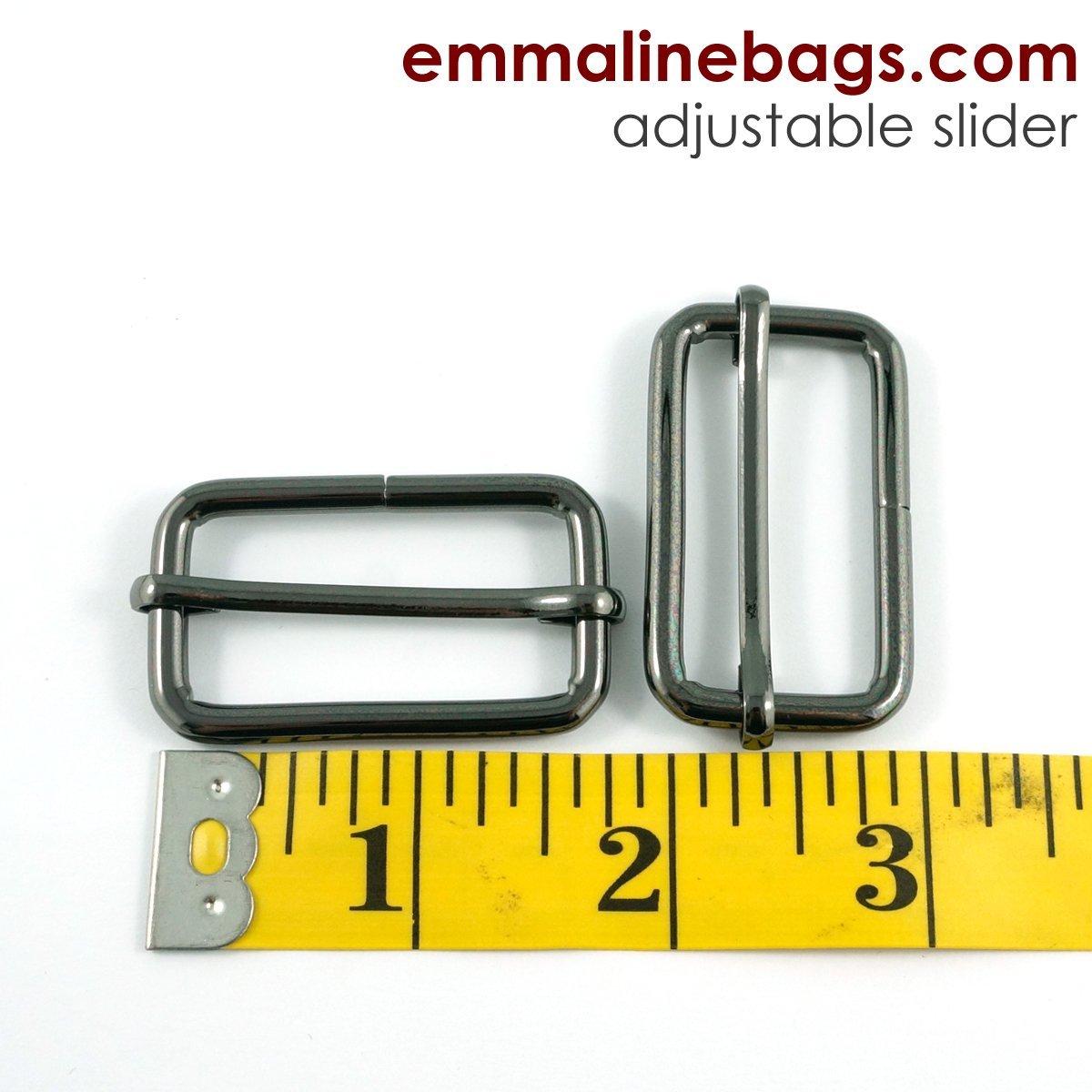 Adjustable Sliders (2 pack) 1 1/2 - Gunmetal