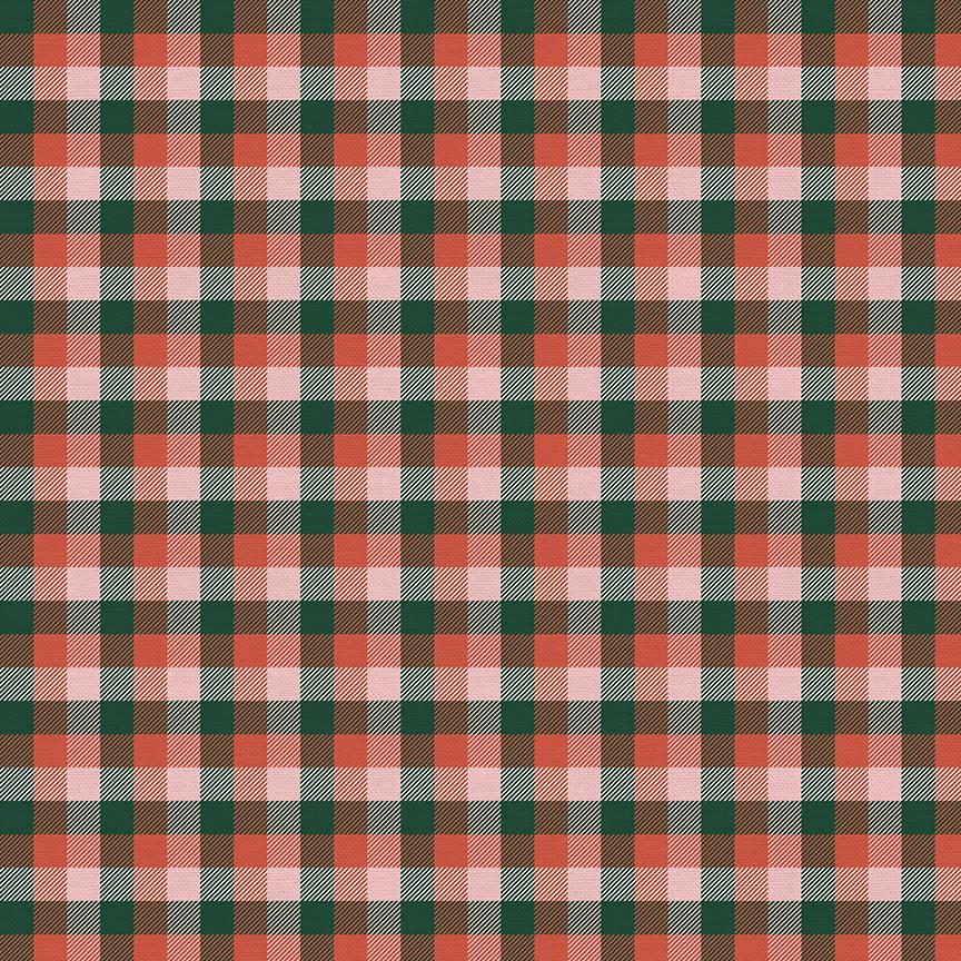 Home For Christmas - Green and Red Plaid