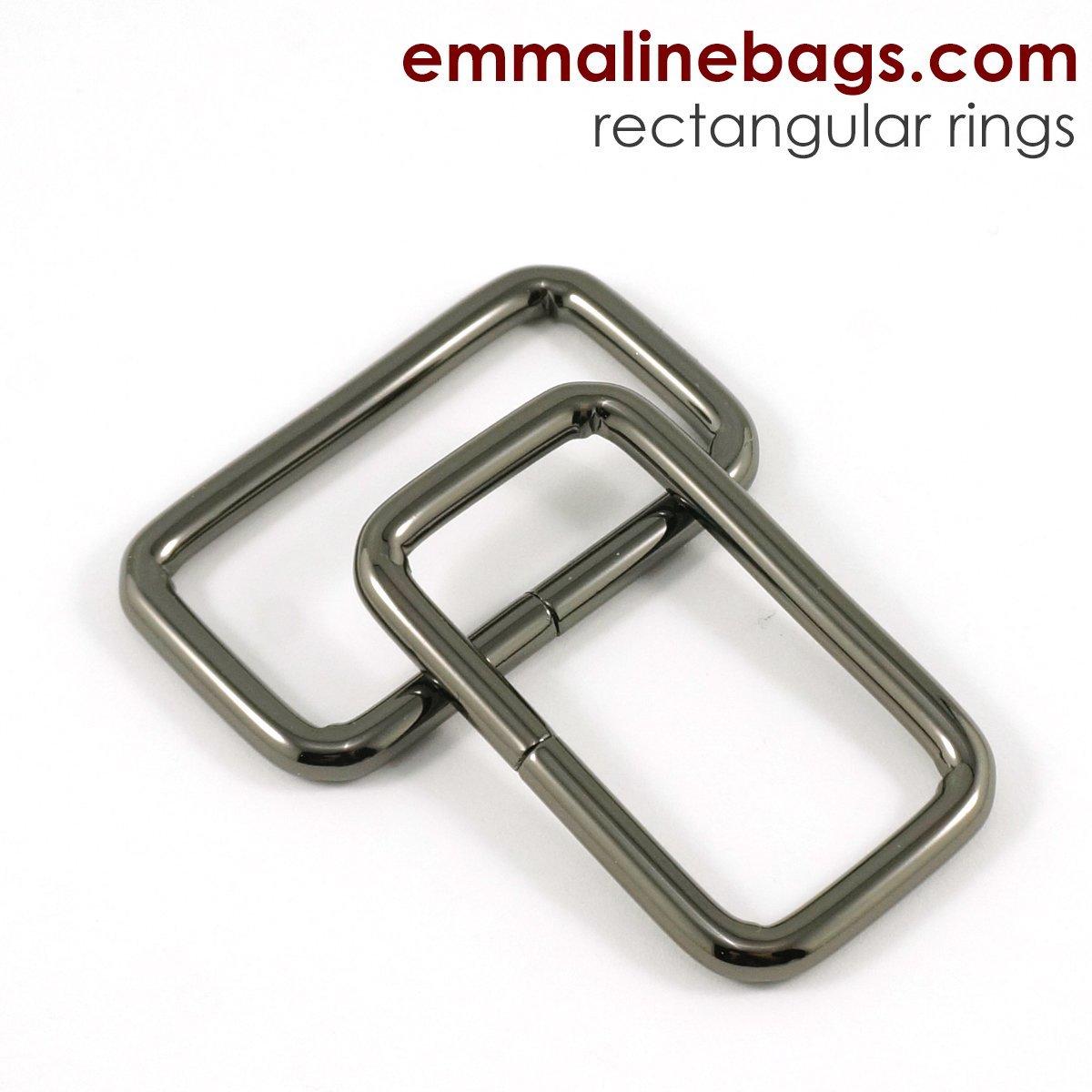 Rectangular Rings (4 pack) 1 1/2 - Gunmetal