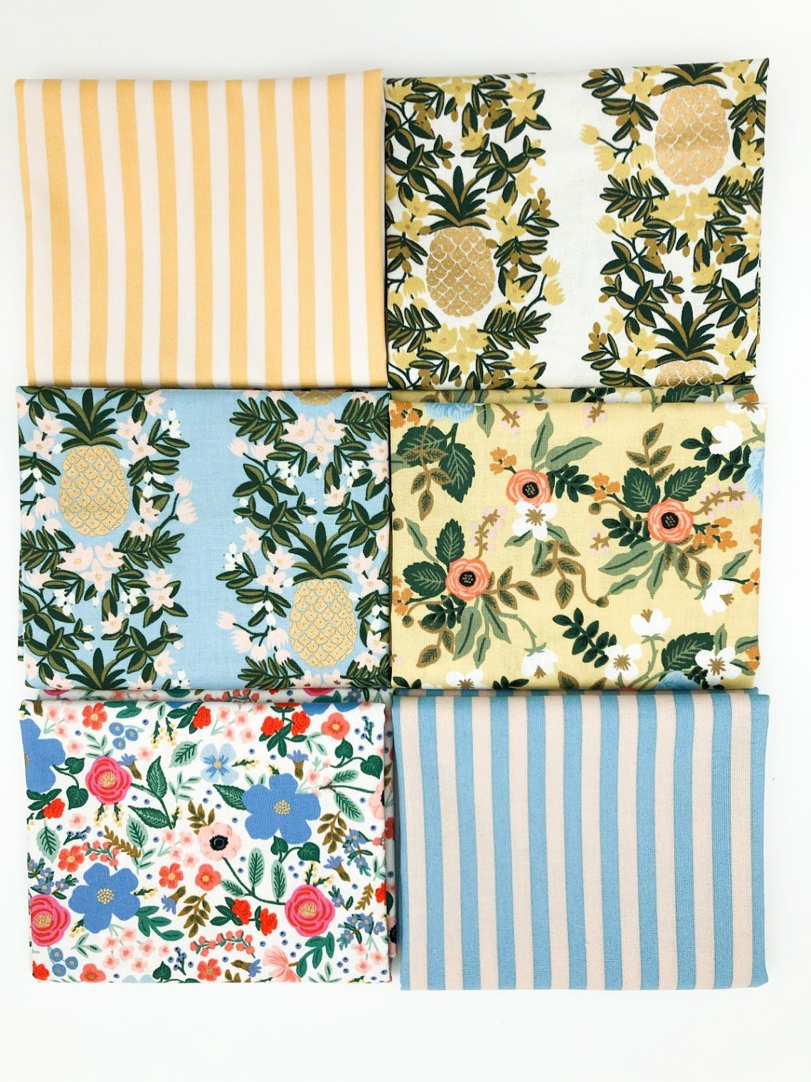 Rifle Paper Co FQ bundle - Periwinkle and Yellow