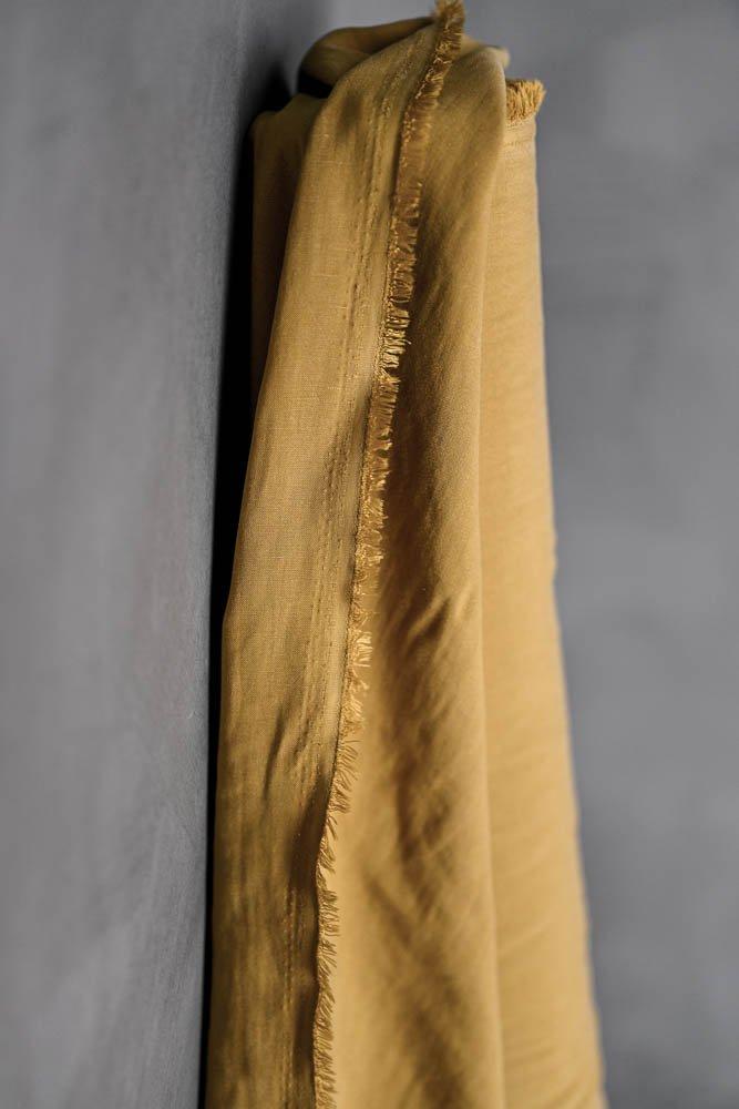Tencel/Linen Abbey Gold END OF BOLT 2/3 YD