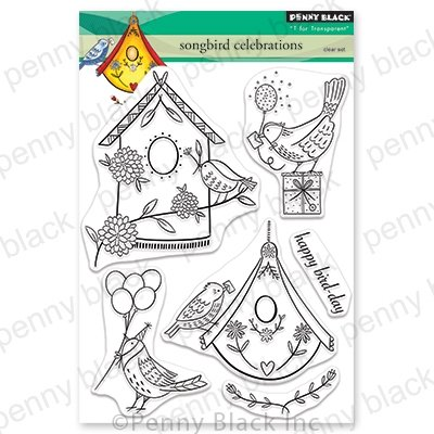 Penny Black Songbird Celebrations Clear Stamp