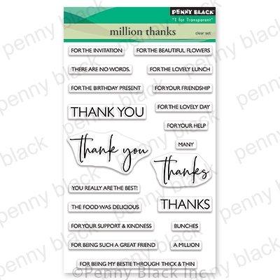 Penny Black Million Thanks Stamp