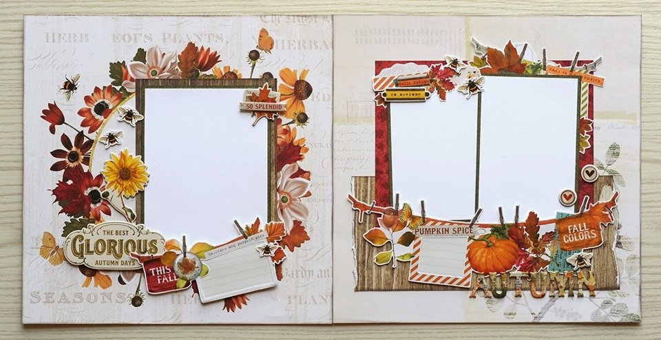 Simple Stories-Autumn Splendor Scrapbook Layout Kit