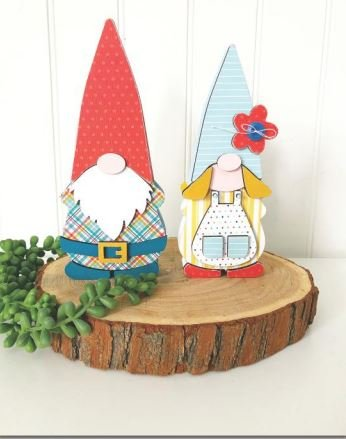 Foundations Decor Gnome Couple Wood
