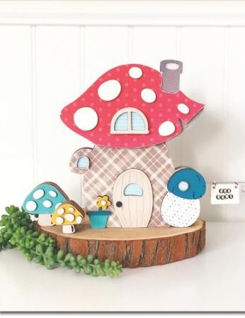 Foundations Decor Gnome House Wood