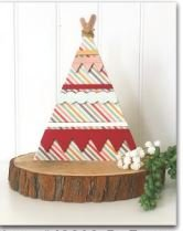 Foundations Decor Tepee Wood PREORDER
