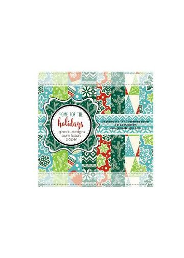 Patterned Paper Pack- Home for the Holidays 6 X 6