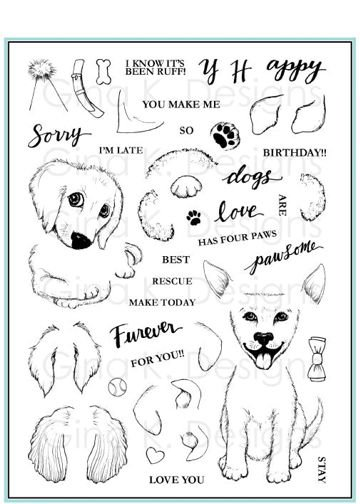 Clear Stamps- Puppies Galore