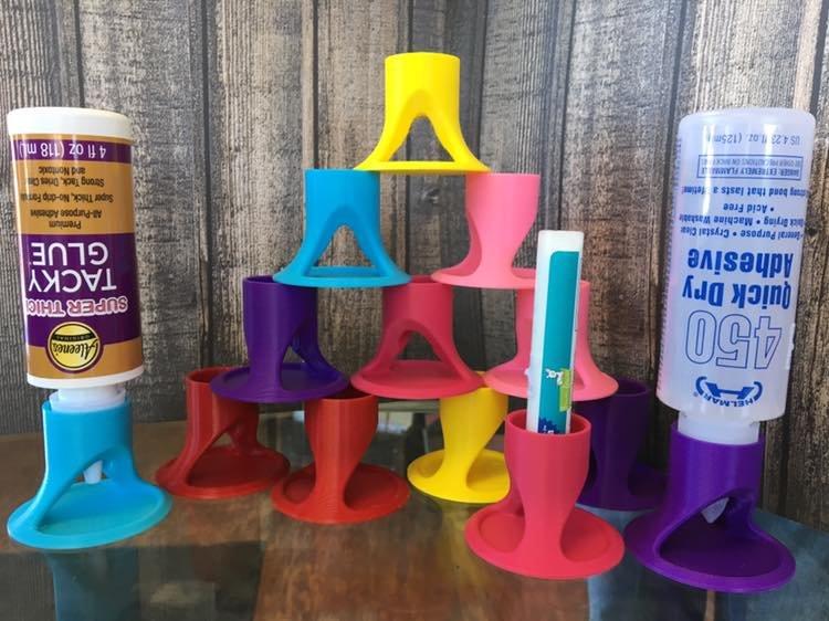 Glue Holder Assorted Colors