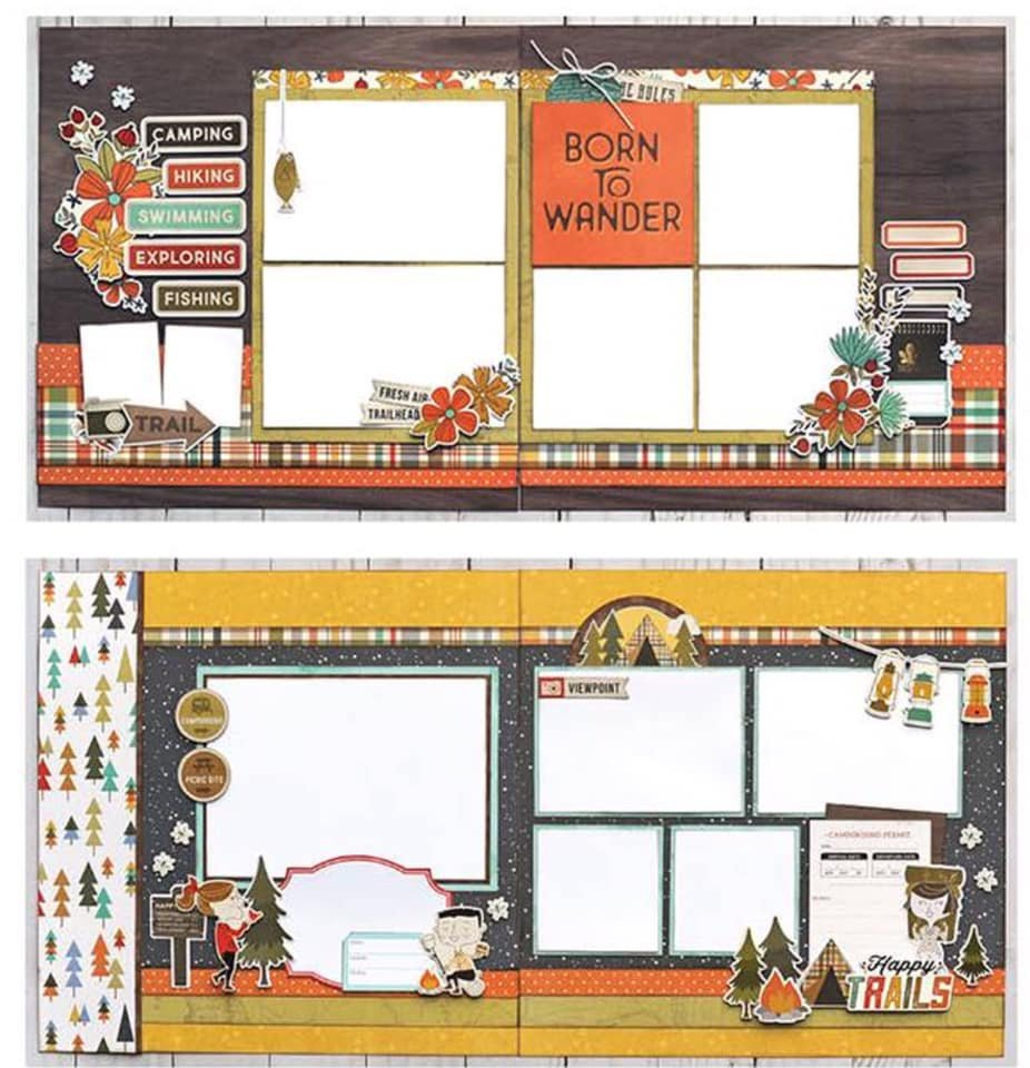 Simple Stories-Happy Trails Layout Kit