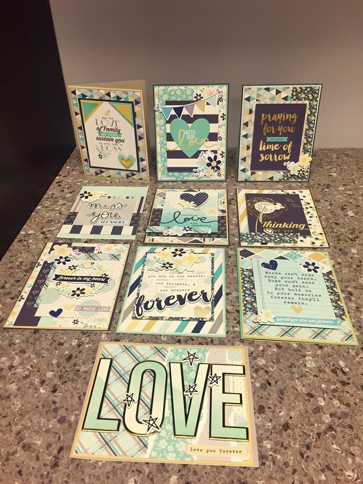 Simple Stories Heart (Sympathy) Card kit