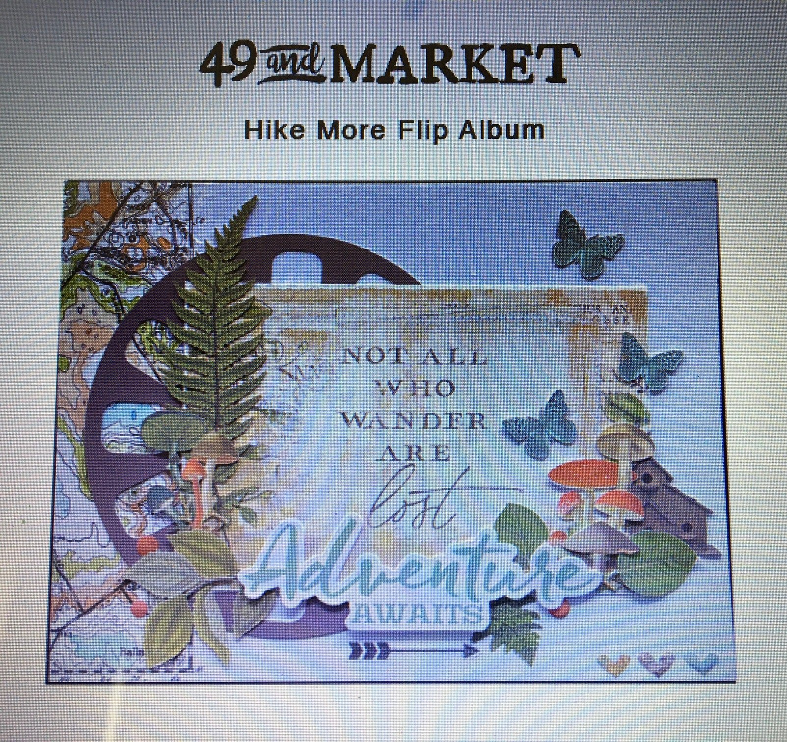 Mystery Monday Kit #59 Hike More Flip Album Kit 49 and Market