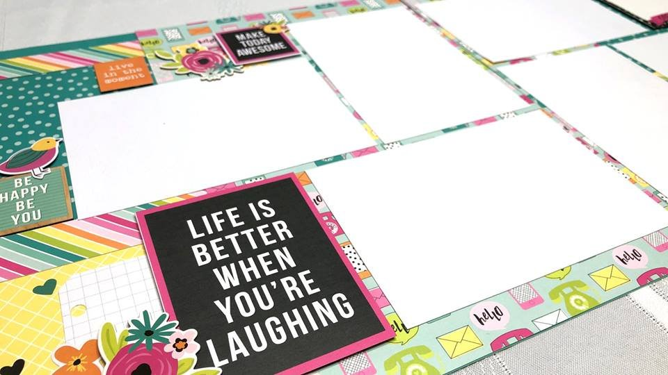 Simple Stories Oh Happy Day layout kit