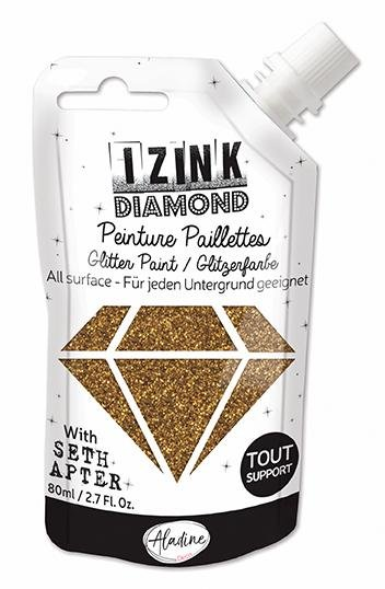 Seth Apter Izink Diamond Glitter Paint Golden Bronze PREORDER