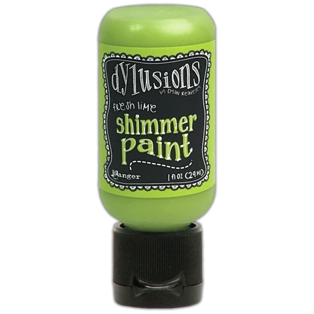 Dylusions Shimmer Paint 1oz Fresh Lime