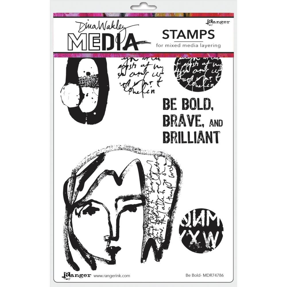 Dina Wakley Media Cling Stamps 6X9 Be Bold
