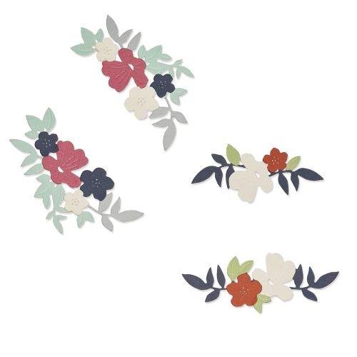 Sizzix Thinlits Die Set 10PK - Wild Blossom Corners